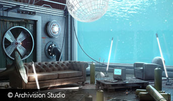 Underwater House by Archivision Studio